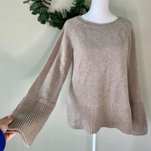 Ann Taylor Knit Taupe Sweater